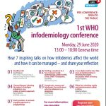 WHO Public Events on #Infodemic Management and #Infodemiology